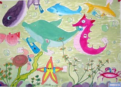design 保护环境的图画一等奖展示_海报大全   中国儿童环保绘画大赛